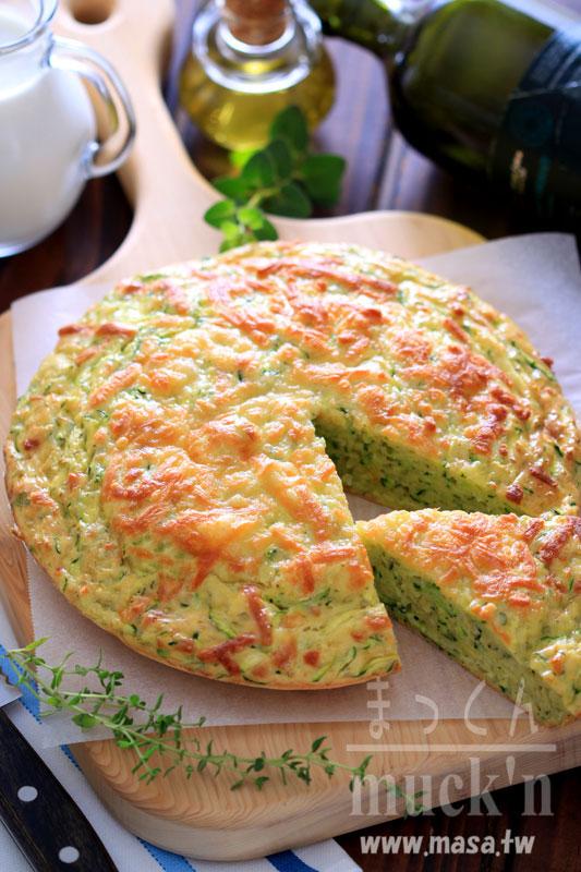 早午餐食譜,點心食譜-綠節瓜香草起司派