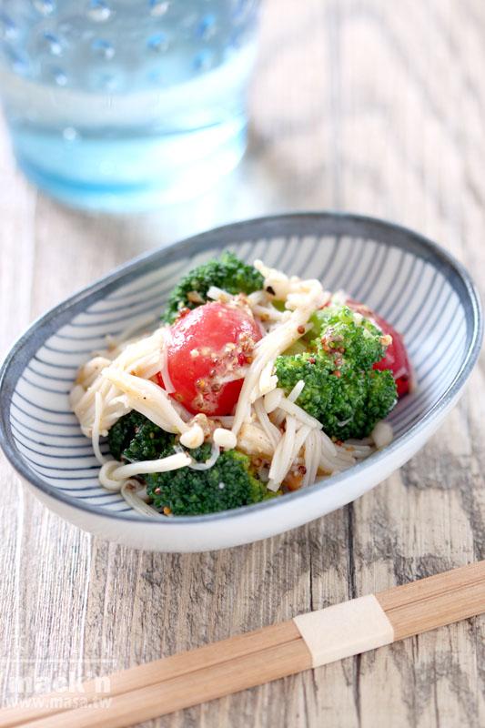 素食食譜,涼拌食譜-昆布風味の春野菜簡單涼拌