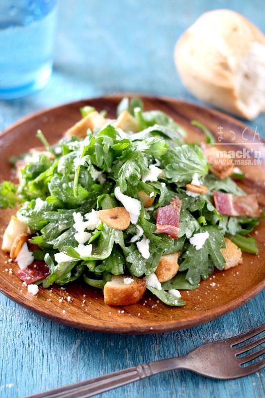 沙拉食譜,早餐食譜-山茼蒿凱撒沙拉